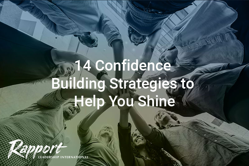 Group of people building confidence